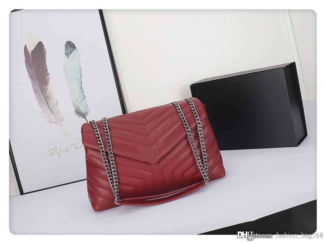 Fashion V forma di spalla Flap bag progettista borse in pelle reale stile di alta qualità di Crossbody Borse piccola borsa Tote bag freeshipping 24