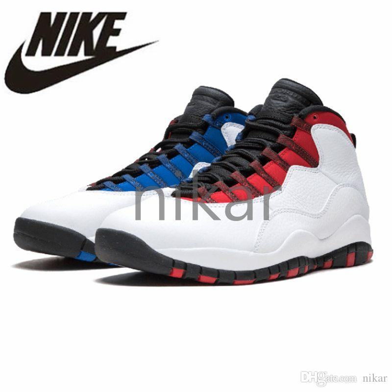 fc77fe4f428773 2019 Nike Air Jordan Retro Tinker 10 Men Basketball Shoes X Retro Jordans  Airs White Man Sport Sneakers White Blue Red Westbrook Chicago Blue Outdoor  Shoes ...