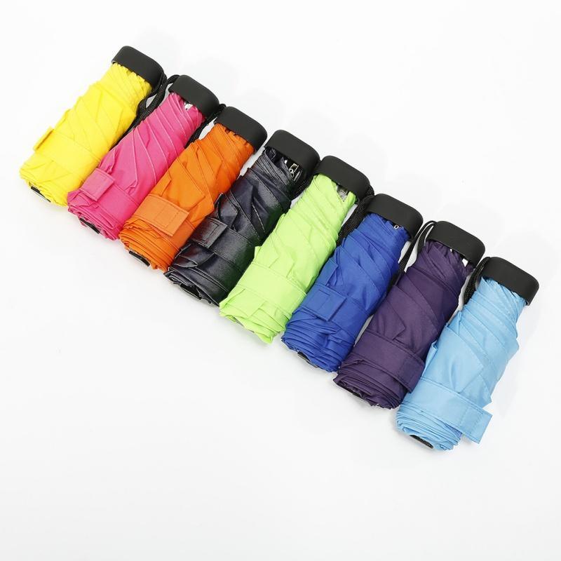 Mini five-fold Umbrella Bag Umbrellas Mini Folded Pocket Umbrella Windproof Folding Rain Umbrellas