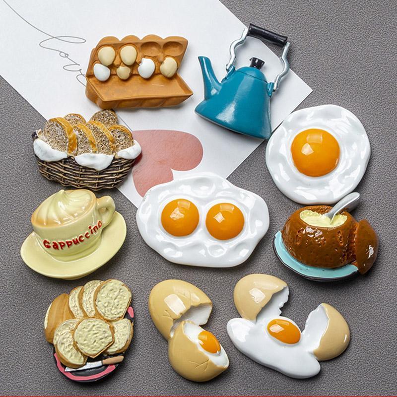 Comida biónica imán de nevera 3D creativo simulación alimento lindo refrigerador pegatinas magnéticas foto magnética etiqueta de la decoración del hogar regalo