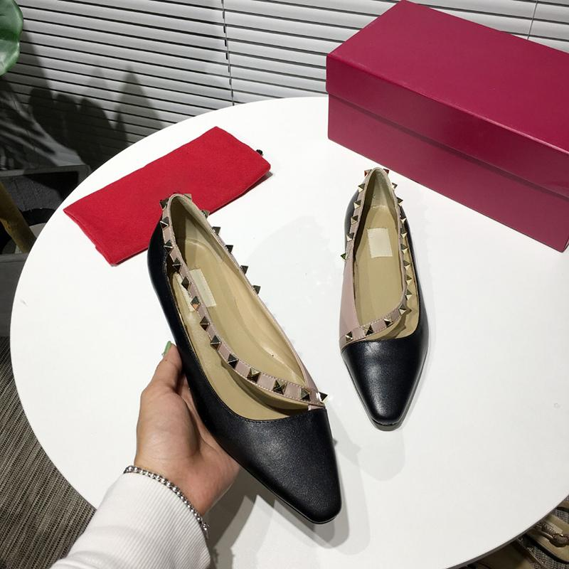 With Box Fashion Luxury Designer Women Dress shoes Red Loafers High Heels Nude Black Pink Wed Shoes Leather Pointed Toes Pumps Dress shoes