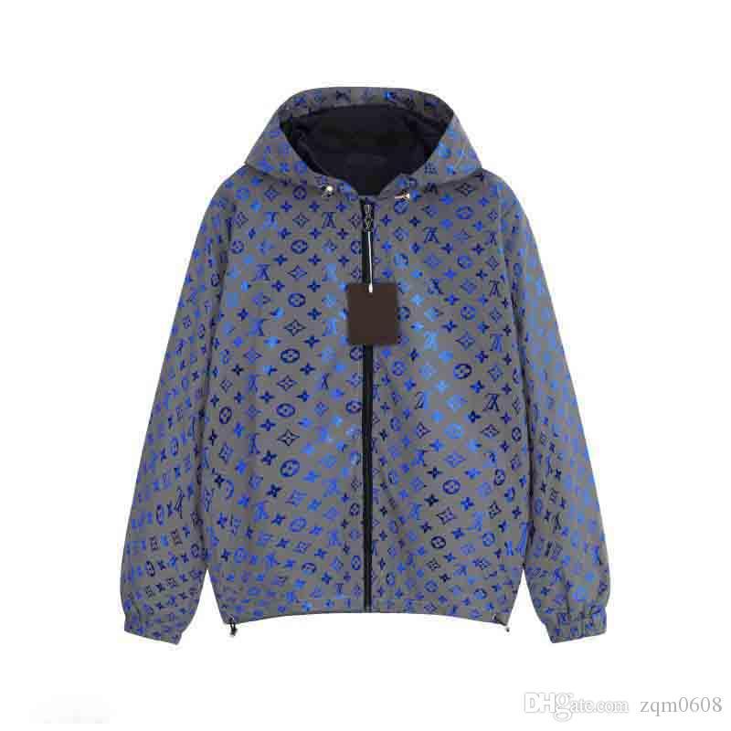 20SS Design Veste de luxe High Street Medusa Lettre Zipper Imprimer Veste à capuche coupe-vent Vêtements Homme de haute qualité de Tag femmes Nouveau