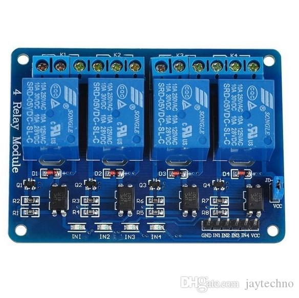 1PCS DC 12V 4-Channel Relay Module Optocoupler For Arduino PIC ARM AVR DSP CA