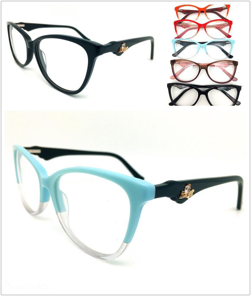 الأزياء أعلى جودة العلامة التجارية تصميم بصري إطارات الرجال النساء خمر خلات نظارات النظارات بلانك نظارات إطار نظارات نظارات FK1995