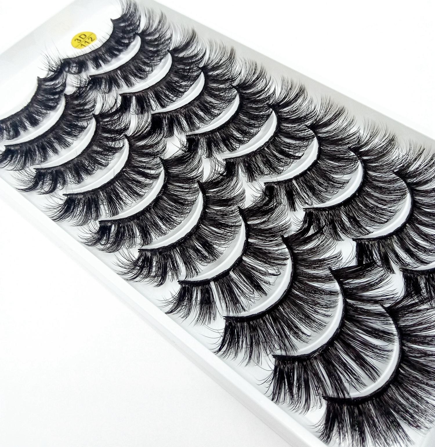 NUOVI 10 paia ciglia finte naturale falso lunghe ciglia trucco 3d ciglia finte visone estensione delle ciglia di visone per la bellezza 112