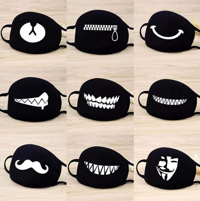 1pc mignon masque facial dents drôle Motif unisexe anti-poussière hiver chaud bouche Masque multi Vente Hot Style