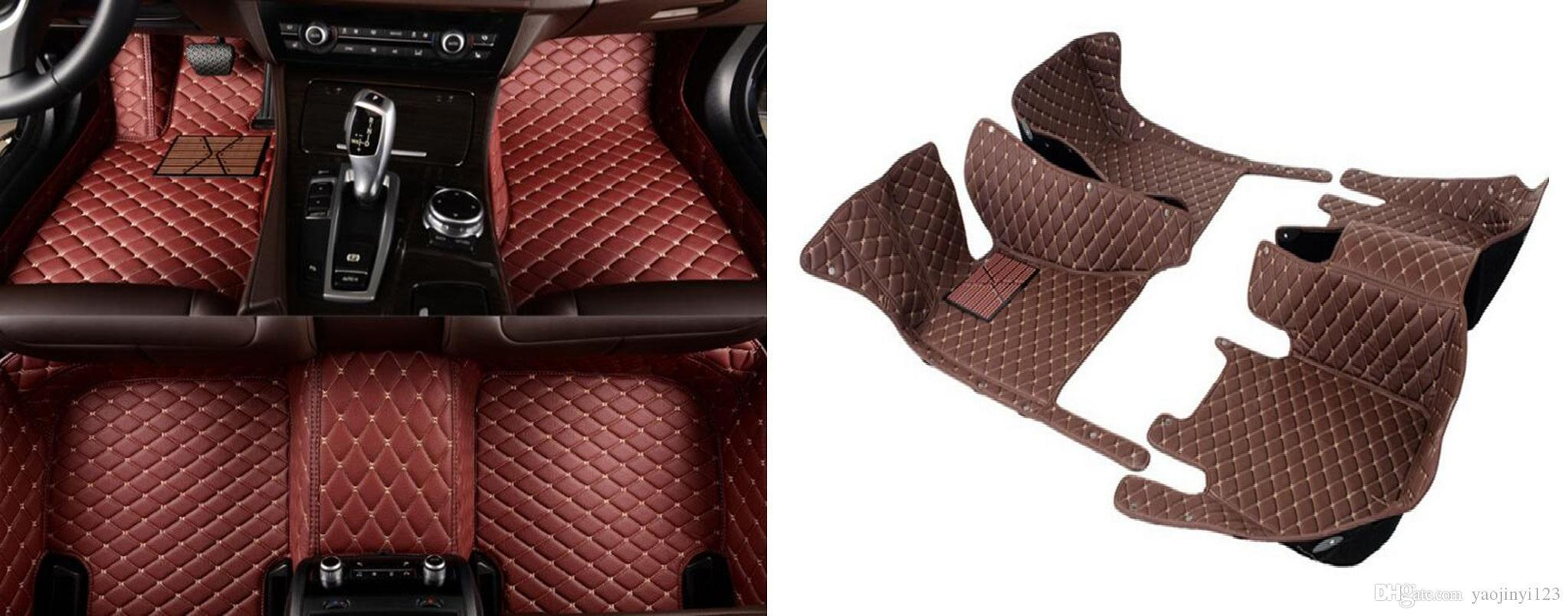 5D completa circondato cucito ricamo tappetini auto per FORD MONDEO 2016 tappeti per auto in pelle con XPE materiale verde