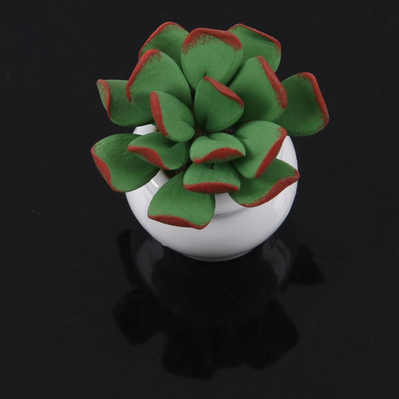 1/12 Dollhouse Miniature Small green leafy plant woven basket lily flower arrangement