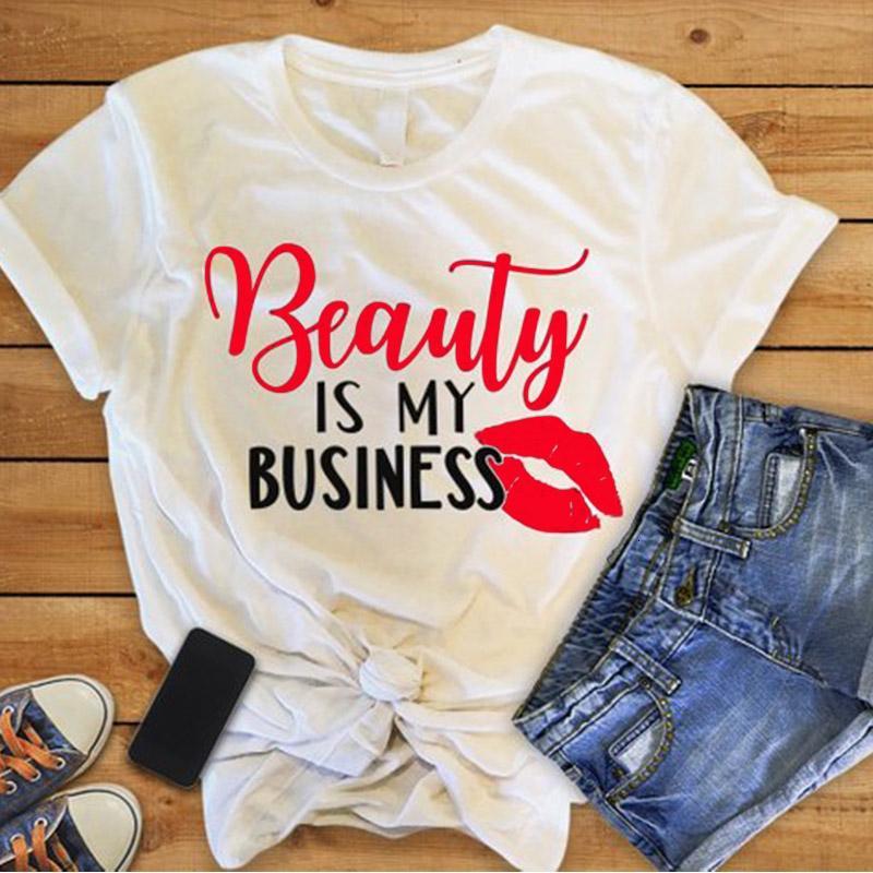 Mujeres del diseñador camisas diseñador de las mujeres ropa de lavandería Mujeres, Belleza es mi igual que arriba, camisas para mujer, alta calidad de la gota libre