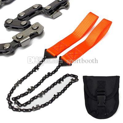 65 cm Stahl Zähne Überleben Hand Kettensäge Mit Gürteltasche Tasche für Camping Outdoor Wandern Überleben Tasche Hause Werkzeug