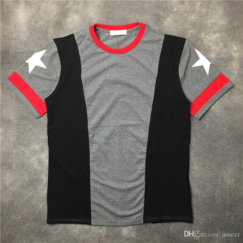 Casual T shirt maniche corte Mens donne degli uomini di alta qualità Moda Uomo Pentagram di stampa maglietta formato S-XL