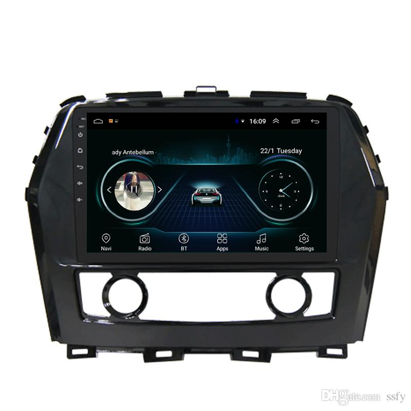 Android car radio with multimedia player vidio HD1080 free map front camera microphone bluetooth music for Nissan maxima cima 2017 9inch