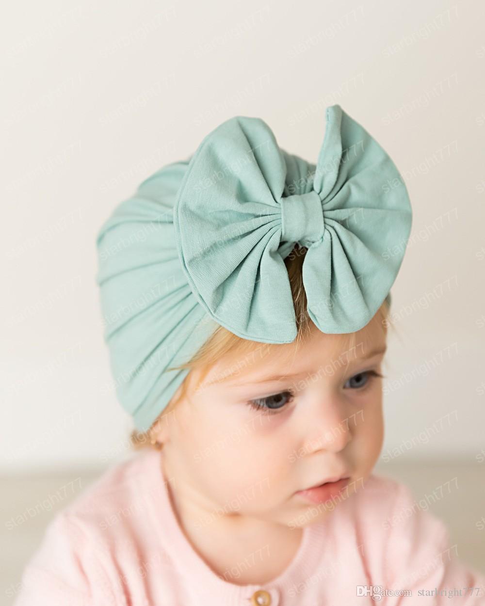 8 cores do inverno dos miúdos chapéus Bow bebê algodão Beanie chapéu crianças Caps bebê balde de luxo designer chapéus meninas acessórios para o cabelo