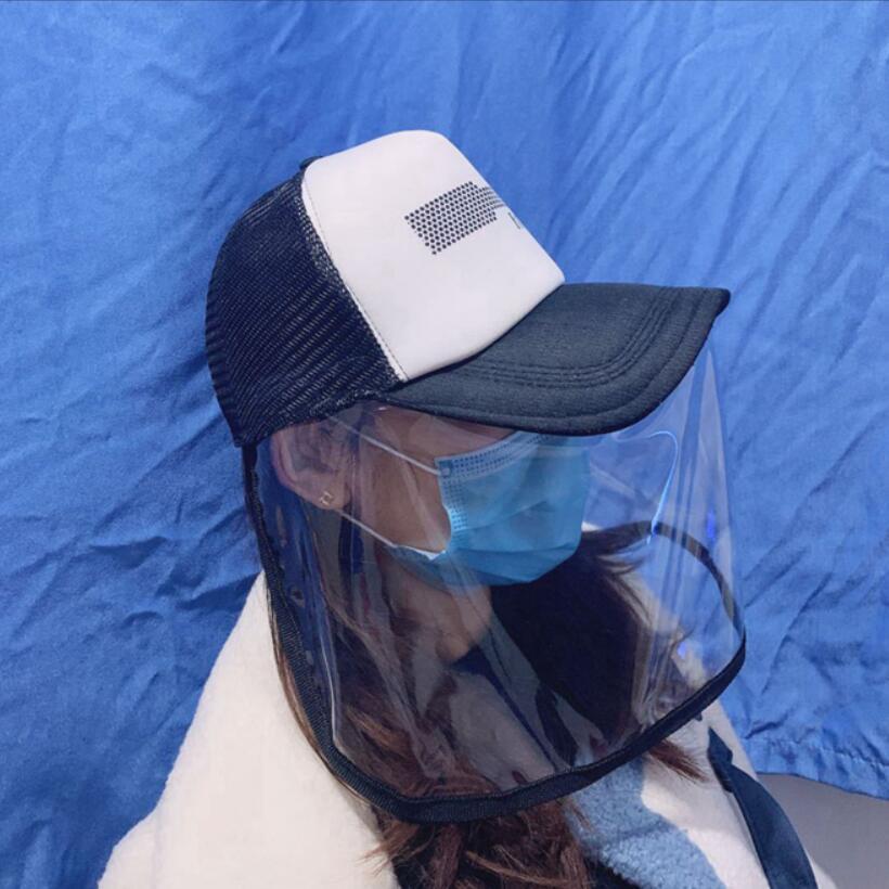 anti-fog men women baseball cap masks dust mask protective cap anti saliva mask hat LJJA3845
