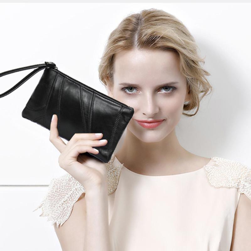 Lady Moda Mulheres Carteiras Wristlet Bolsas longo Money Bag Zipper Coin Purse Cartões ID Titular Clutch Mulher Carteira Burse Totes