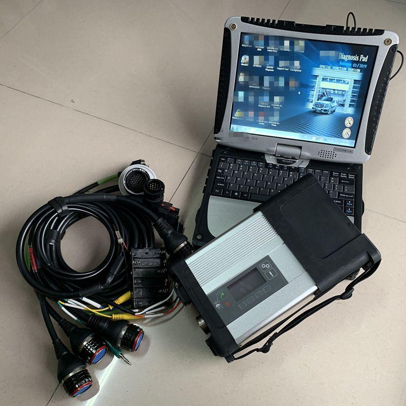 Llena estrella del MB C5 SD conecta con el ordenador portátil Toughbook CF-19 HDD SSD 2019.09v D.AS/ DTS / de la estrella del MB C5 Coches Camiones