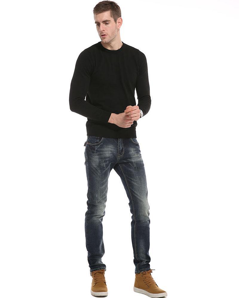 Denim longues Pantalons Jeans Hommes, Automne Hiver 2018 Fashion Casual Coton Jeans Hommes Bonne qualité d'un nouveau puits