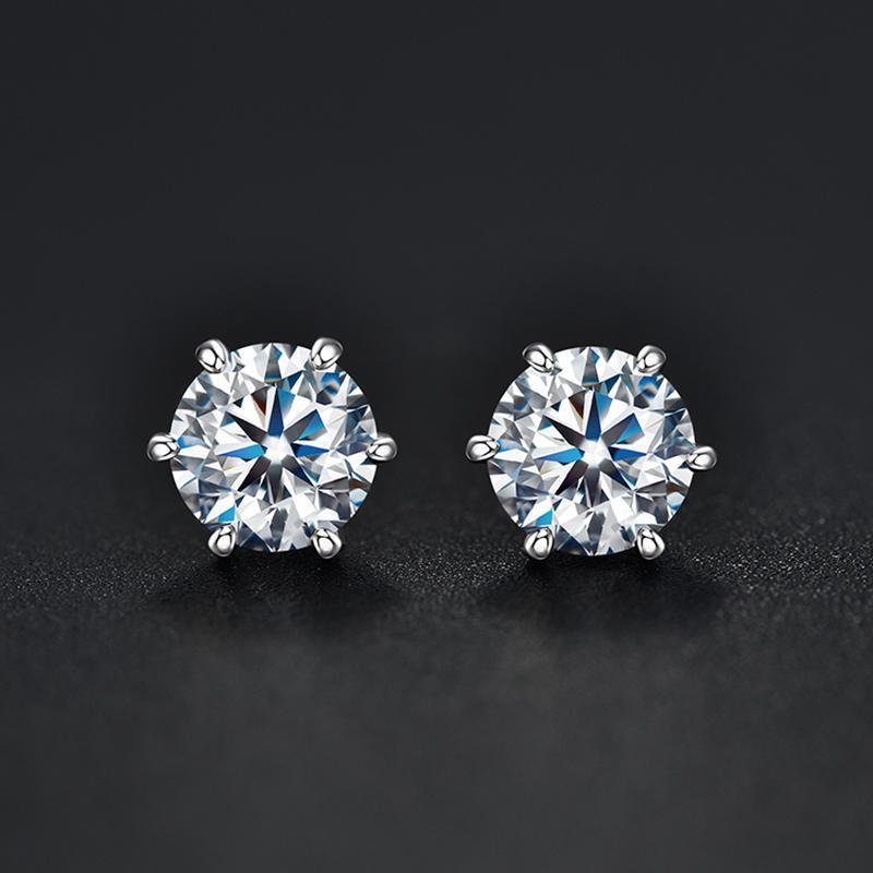 925 Silber 0.5 / 1 ct D Farbe Moissanite VVS edlen Schmuck Diamant-Bolzen-Ohrring mit nationalem Zertifikat für Frauen-Geschenk