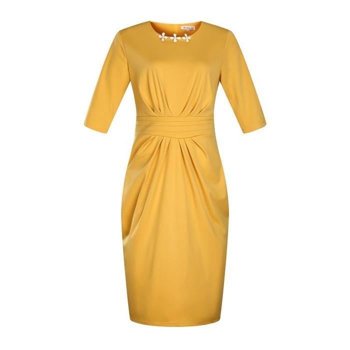 Yukarı Şekil Elbise Yaz Mürettebat Boyun Artı boyutu Elbise Peplum Casual Kalem Etek ile Fermuar Çok renkli Opsiyonel Got