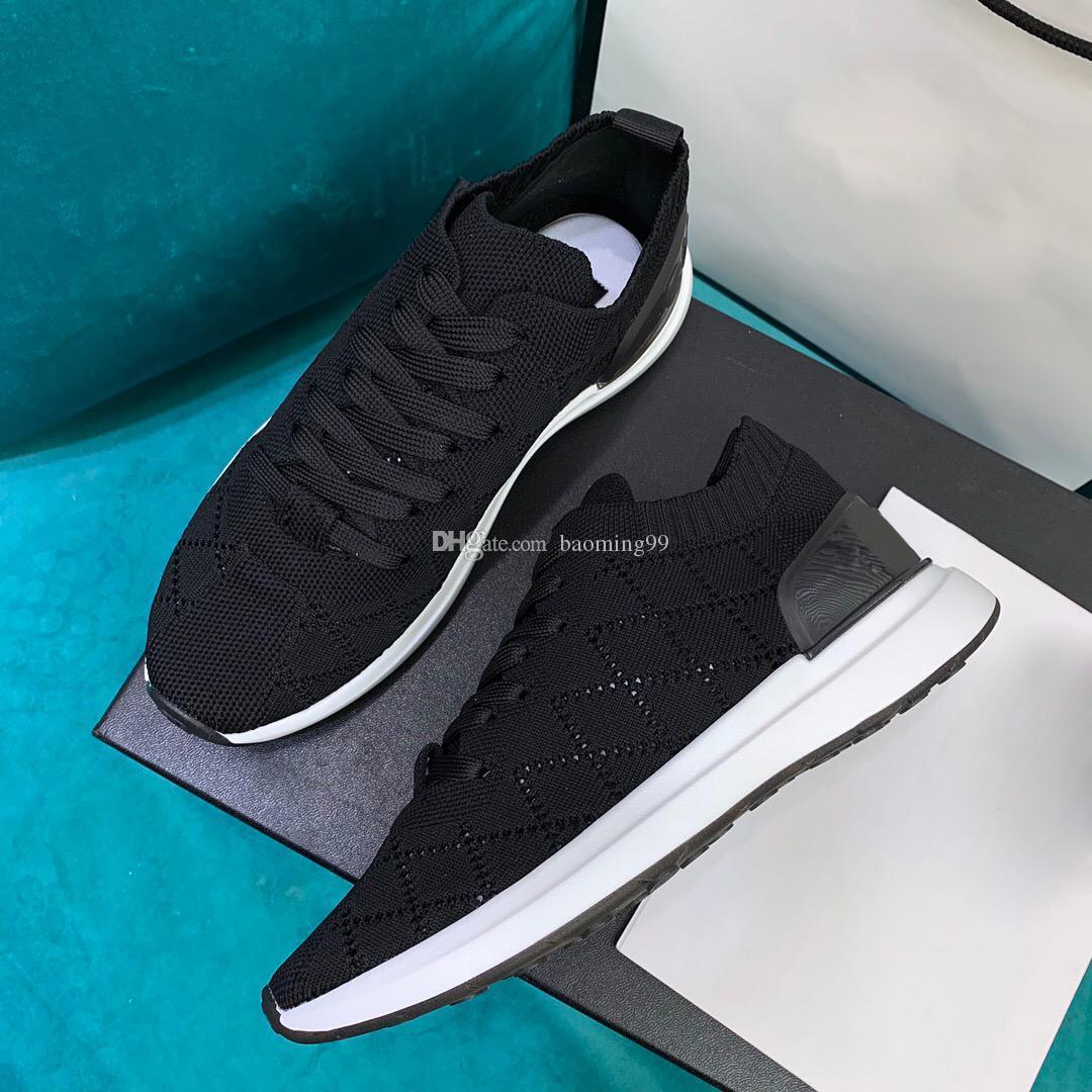 2020 Formatori pattini casuali delle donne caldi di lusso della moda maglia Lace-up delle donne delle scarpe da tennis a buon mercato migliore superiore maglia calza le scarpe con la scatola