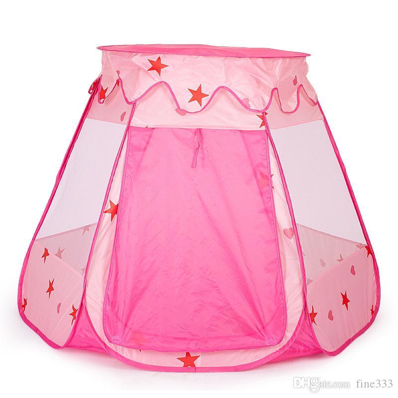 Del giocattolo del bambino della tenda portatile pieghevole Principe Principessa Tenda Castello da gioco per bambini regalo del capretto all'aperto Beach Zipper regali tenda Ragazze