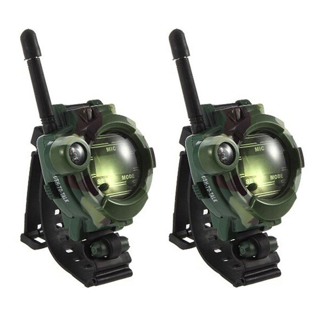 2 Pcs Family Games Children Toy Walkie Talkie Kids Watch Style Outdoor Interphone Gifts Toys Camouflage Military Field