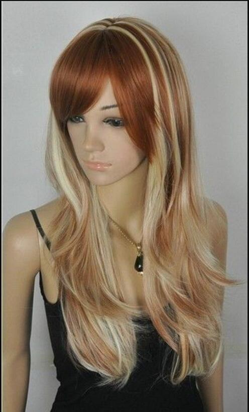 Парик очаровательный длинный коричневый светлые волосы здоровья женщин парик