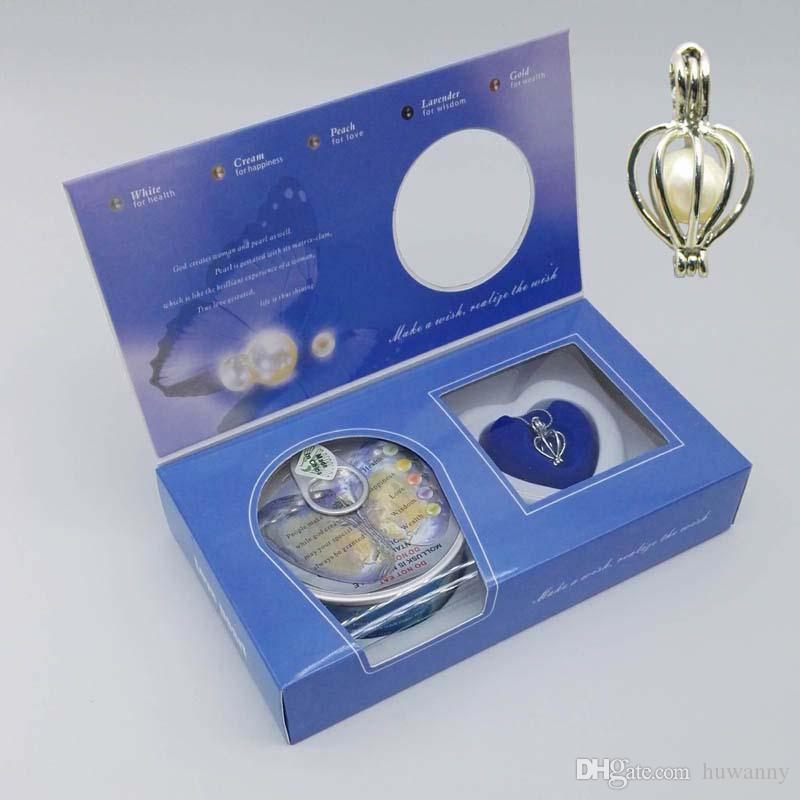 Love-Wish Pearl Necklace Oyster Clam Pendant Kit Box Valentine Romantic Gift