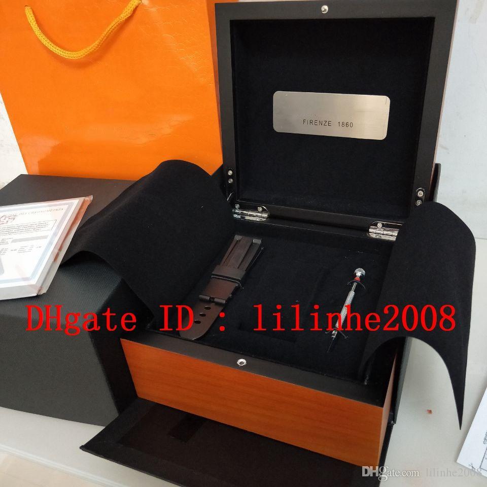 Luxo de Alta Qualidade PAM 1950 Assista Caixas De Madeira Cinta De Borracha Caixa Original Papers Bolsa Usado PAM 441 438 507 604 616 Mulheres Watch Mens Relógios
