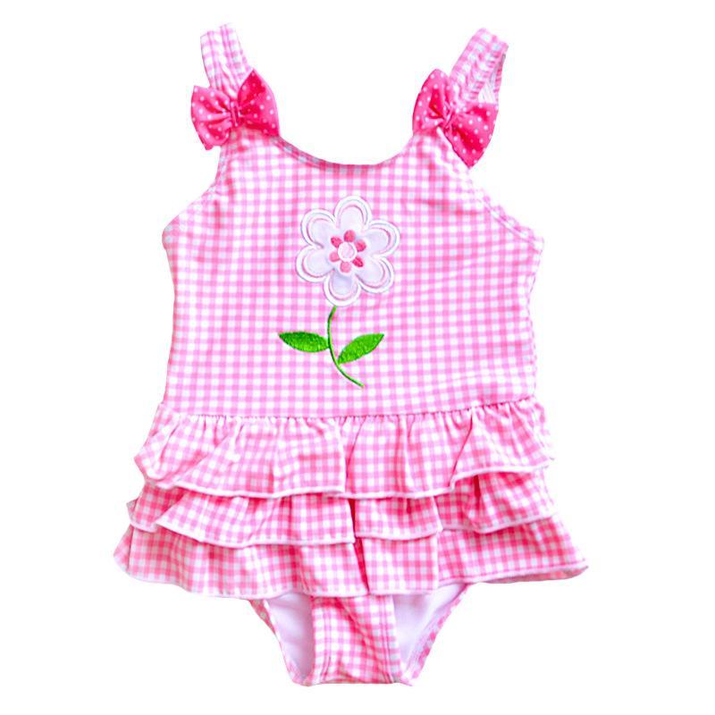 منقوشة التطريز زهرة القوس SwimwearSuit بيكيني أنيمي تأثيري هالوين 2020 الصيف كيد ملابس البنات