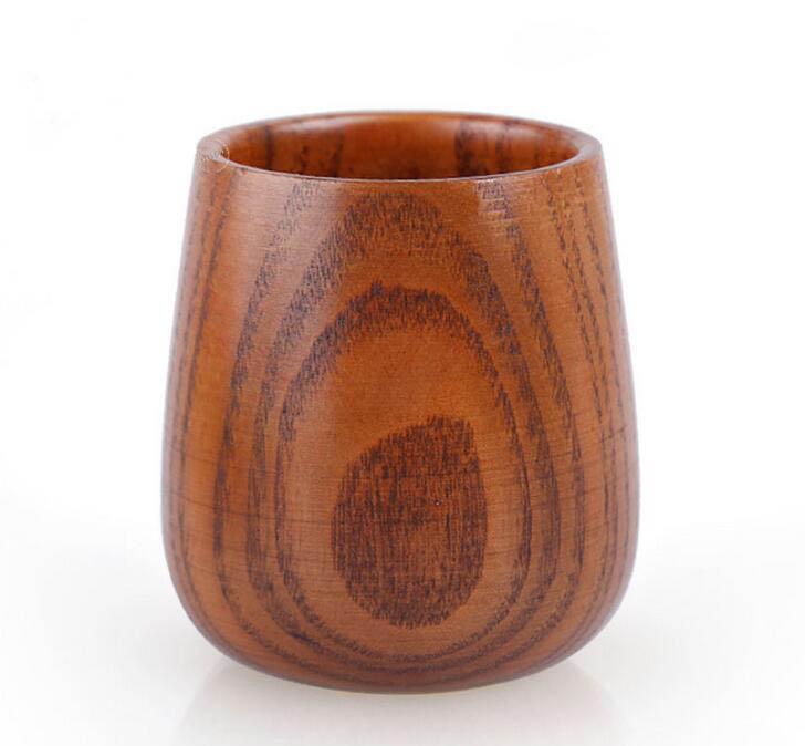 صغير كأس خشبي النبيذ البدائية اليدوية الطبيعية العناب الخشب عالية الجودة خشبي القدح الإفطار البيرة الحليب DRINKWARE 100