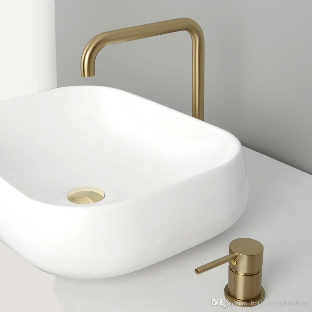 Lavabo separado mezclador agua grifo de montaje de baño grifo de latón negro y cepillado oro y Rosa agua caliente y fría mezclador grifo
