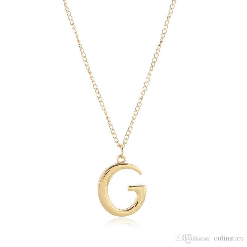 Collana con ciondolo lettera G semplice Nome regolabile Collana da coppia Accessori moda per gioielli Regali per donna Uomo