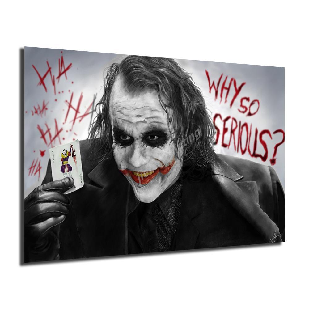 Бэтмен Фильм о фильме Joker Печать холст Фото Модульные картины для гостиной Плакат на стене Home Decor