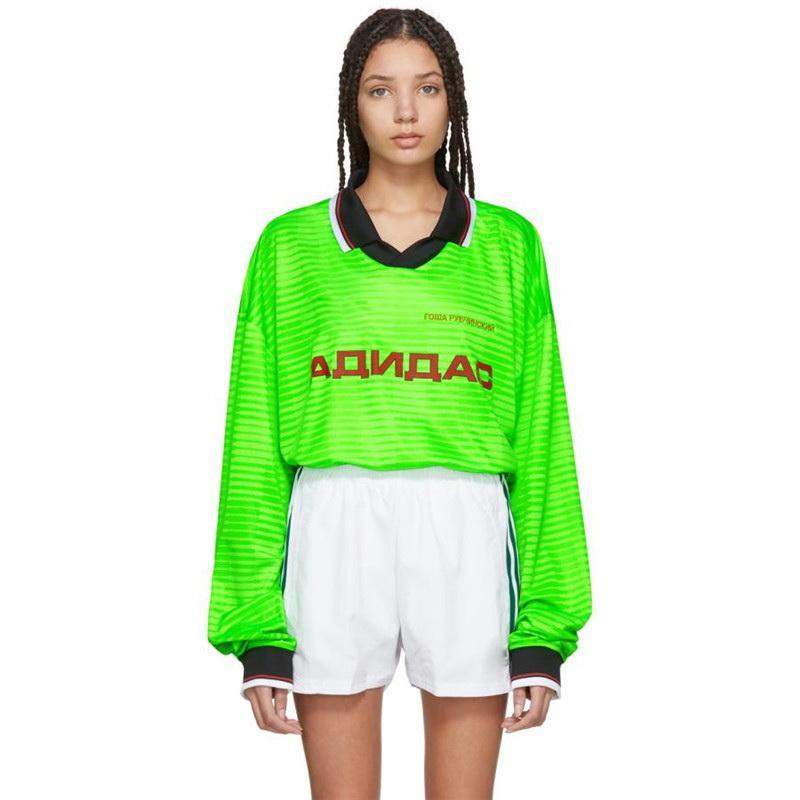 18FW GOSHA RUBCHINSKIY POLO T Jersey Sweat-shirt décontracté en plein air Brochage Rue Pull-O manches longues Sweats à capuche HFYMWY128