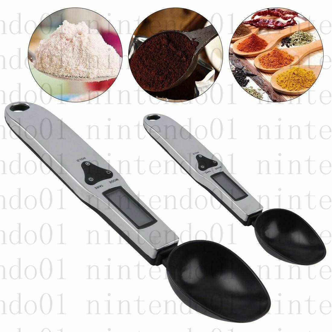 جديد popular300g / 0.1 جرام 500 جرام / 0.1 جرام المطبخ المنزلية الالكترونية ملعقة وزنها مقياس المحمولة led الإلكترونية قياس قياس ملعقة