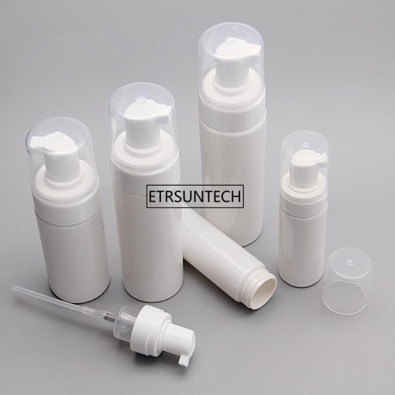 100pcs Cleanser Mousse Flasche Leere nachfüllbare Kunststoff Pumpflasche Vial Trip Pot Schaum Flüssigseife Mousse F3553
