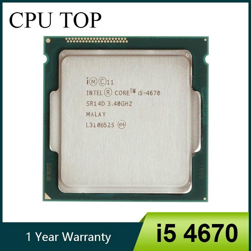 i5 و وحدات المعالجة المركزية إنتل كور 4670 3.4GHz 6MB المقبس LGA 1150 رباعية النوى وحدة المعالجة المركزية المعالج SR14D مكتب الحاسوب وحدات المعالجة المركزية