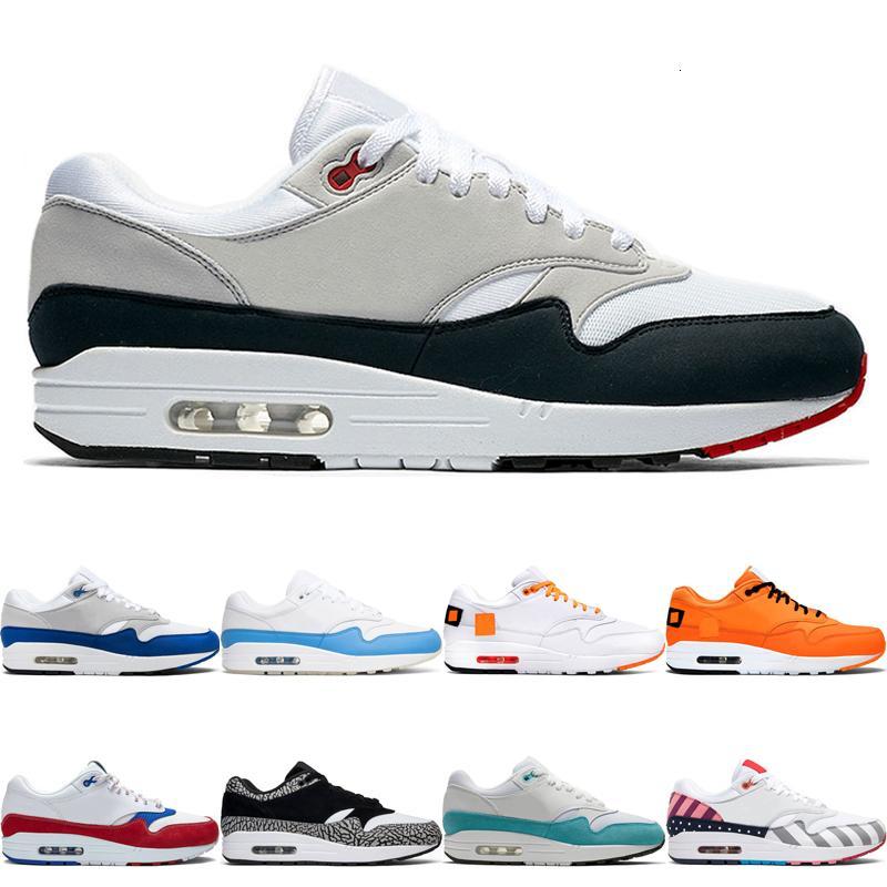 Vente Hot 1 Hommes Femmes Chaussures de course anniversaire royal Patch Teal atomique Porto Rico Parra Hommes sport Chaussures de sport des Chaussures