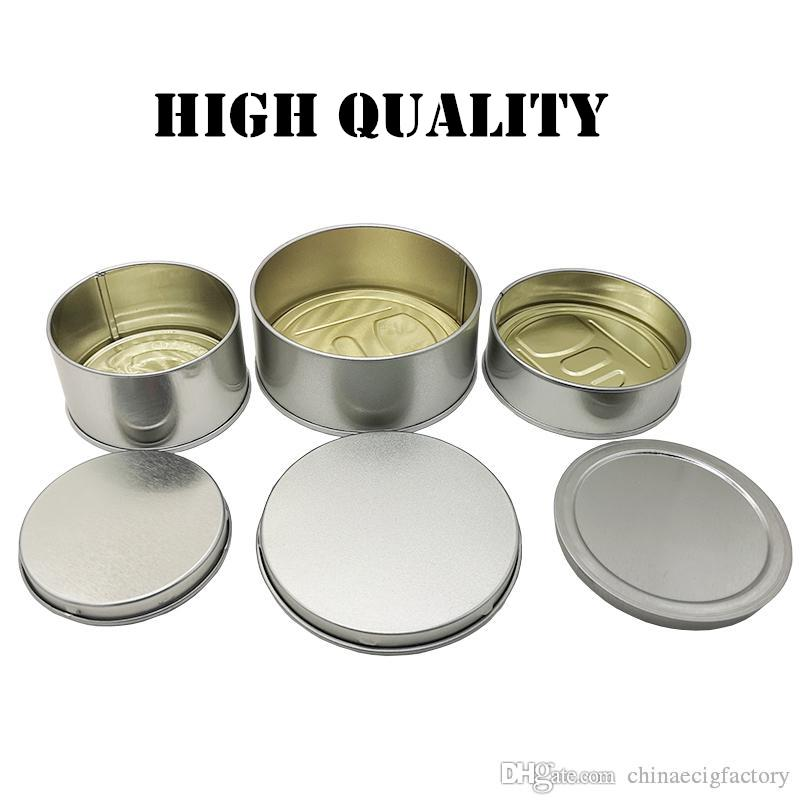Childproof Tin Cans 7g Capacity Case Child Resistant Non-spill Food Packing Water Proof for Dry Herb Flowers Easy to Use Manual Bottom Seal