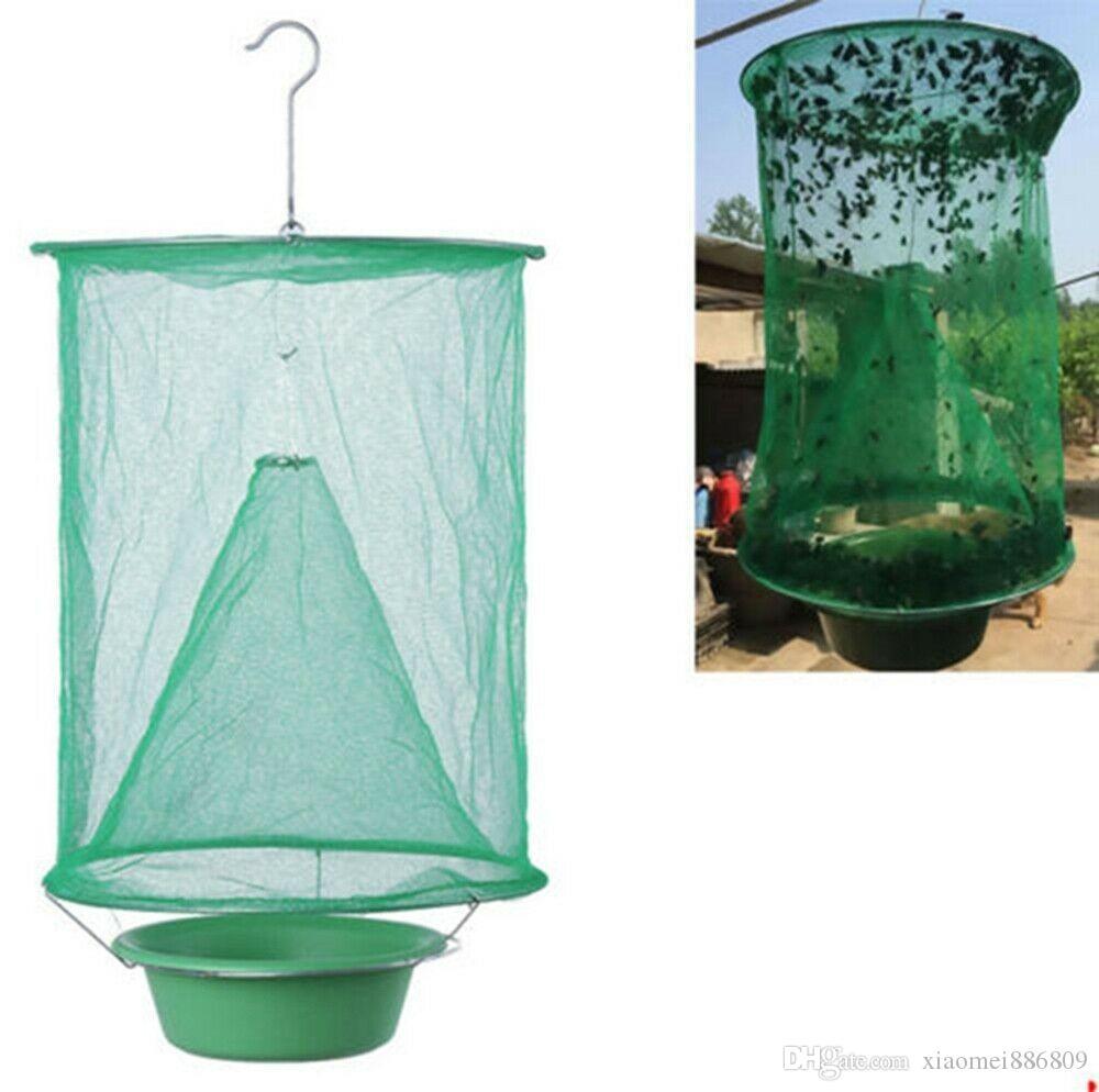 포수와 미끼 냄비 야외 목장 해충 방제를 걸려 매달려 재사용 플라이 킬러 케이지 순 트랩 삽입 버그 해충