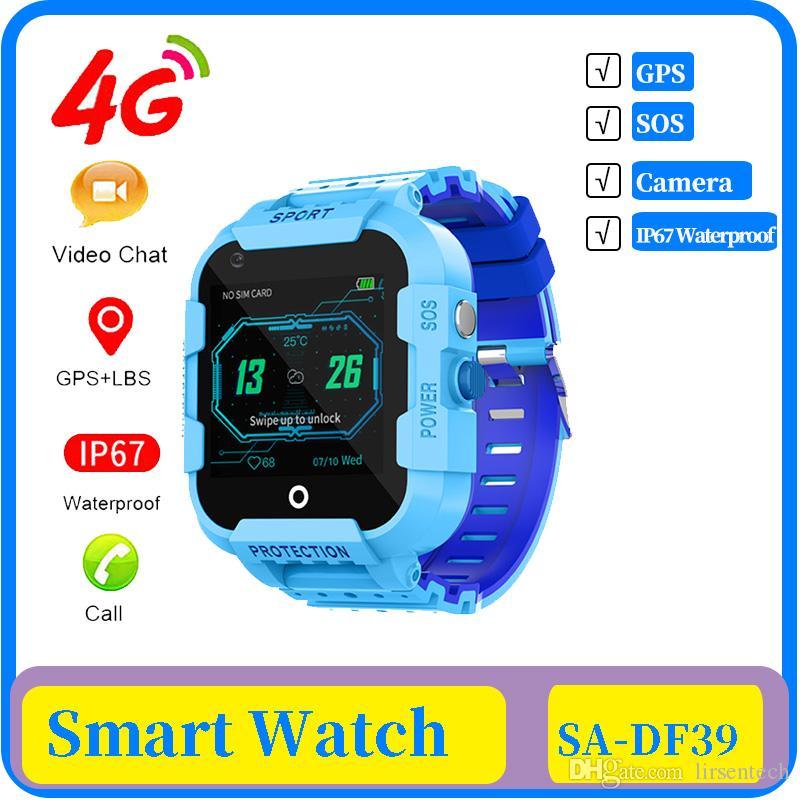 25X DF39 4G الاطفال الذكية ووتش GPS المقتفي IP67 للماء مكالمة فيديو كاميرا GPS WIFI LBS الموقع 4G ووتش ساعة ذكية أطفال هدية ساعة