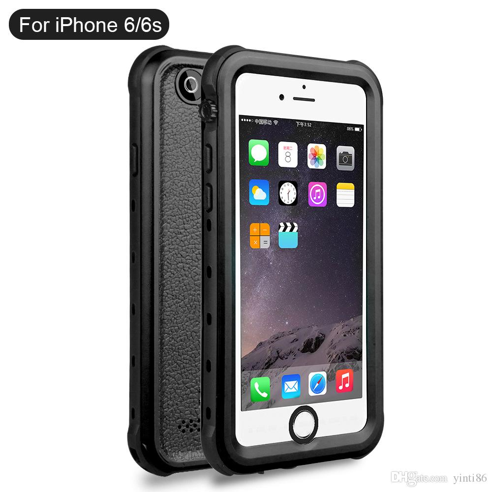Fashion Waterproof Case, Snow Proof, Shock Proof Cover Case for IPhone 5 5s 6s 6 plus with Touched Screen Protector