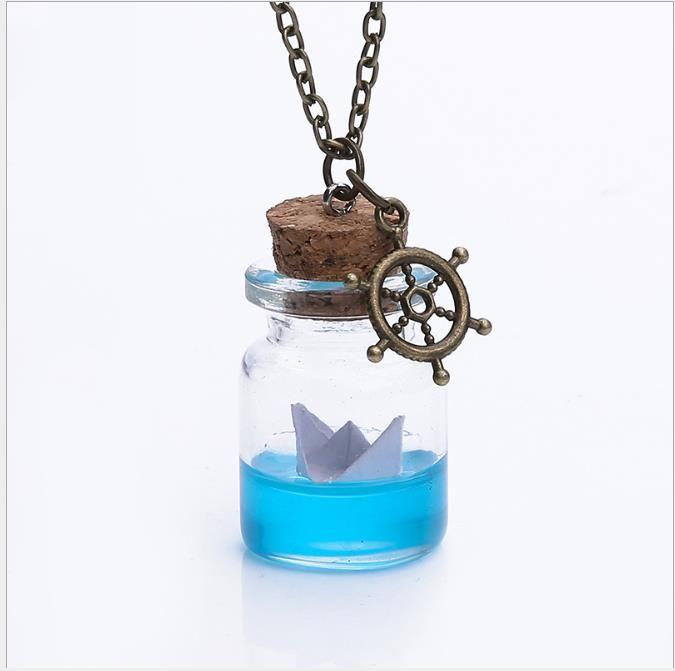 Personality New Necklace Fashion Jewelry Glass Pendant