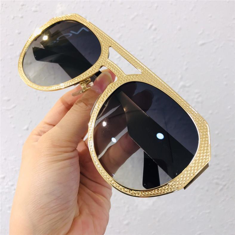 Linse Designer Marke Series Sonnenbrille Standardbeschichtung Markenrahmen Klassisches Logo Oval UV400 High-End Goldene Charakter Mode Sonnenbrille LEBS