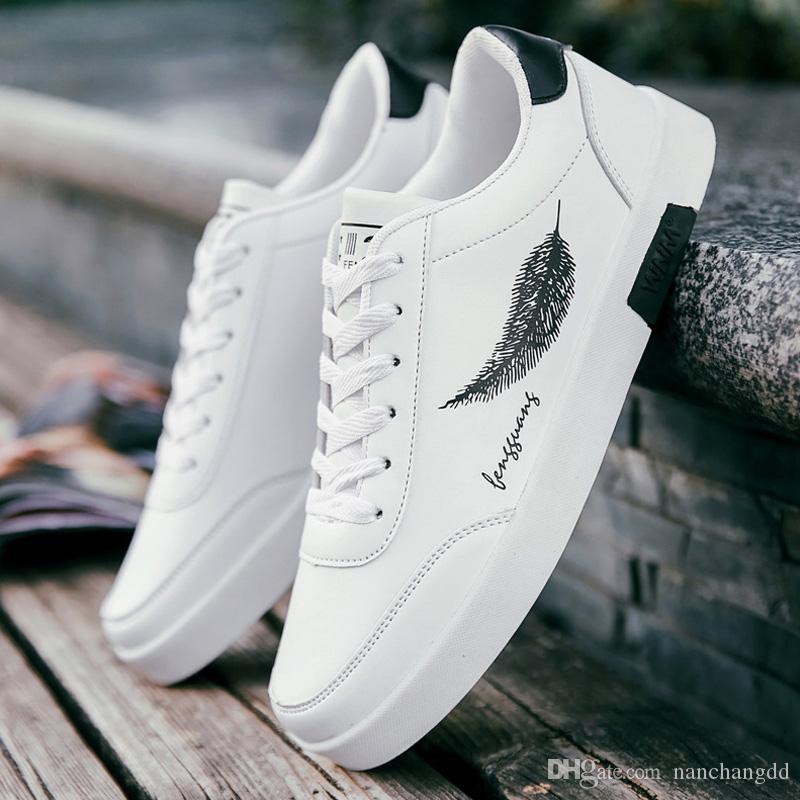 Moda primavera Homens Vulcanizar Sapatos Sapatilhas Brancas Homens Sapatos Masculinos Ao Ar Livre Adulto Respirável Homens Sapatos Casuais