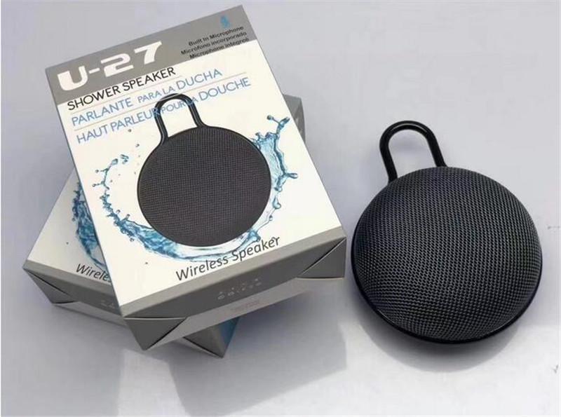 U27 impermeáveis Speakers roupa sem fio Bluetooth Duche Speaker Long Life da bateria e microfone e removível Ventosa Com Retal Box