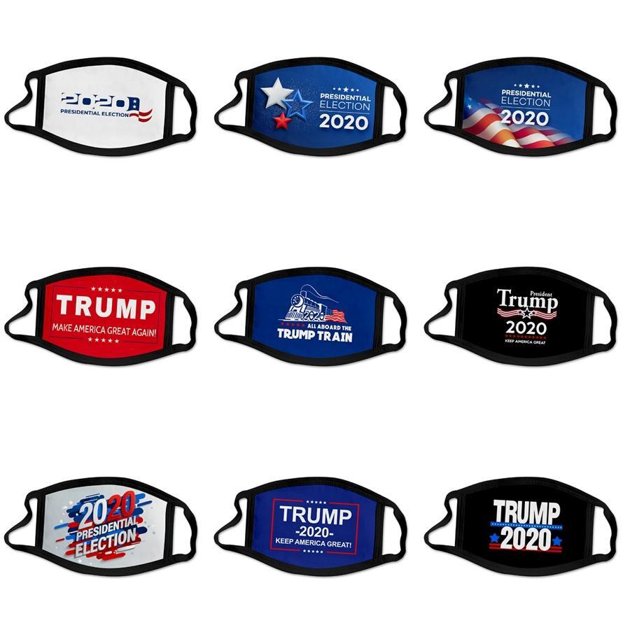 20 1шта Fashion Party аниме Дизайнер Trump Face Mask взрослых Fun Костюмированная моющийся Mouth Муфельной маска многоразовая пыль Теплой ветрозащитный хлопок # 24