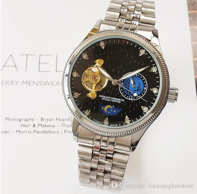 Designer Keramik-Lünette Mens New Green Top 2813 mechanische Edelstahl-Luxus-Automatik-Uhrwerk Uhr-Mode-Männer Uhren Armbanduhren