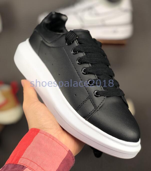 2019 Melhor Designer de Conforto Pretty Womens Sneakers Sapatos De Couro Casuais Sólidos Das Mulheres Dos Homens Plataforma Sneakers Vestido Sapato Esportes Tênis
